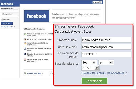 faire un nouveau compte facebook
