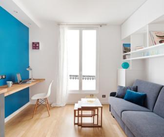 comment d corer studio 15m2. Black Bedroom Furniture Sets. Home Design Ideas