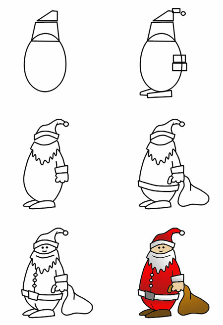 Comment dessiner noel - Dessin de noel facile a faire ...