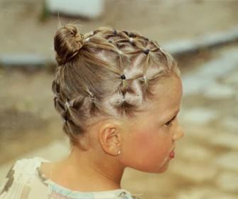 comment coiffer petite fille pour mariage