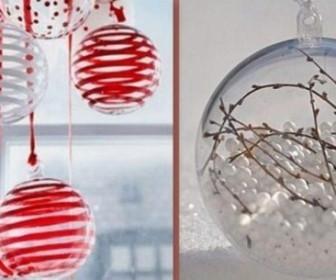 comment décorer boules transparentes pour noel