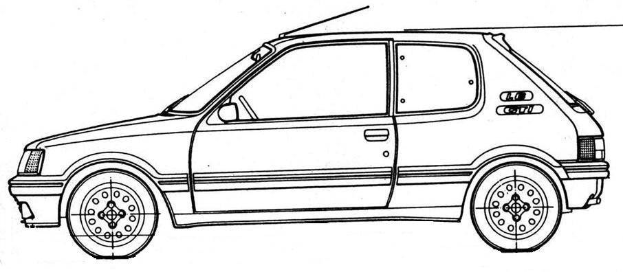 Comment dessiner 205 - Coloriage voiture de rallye ...