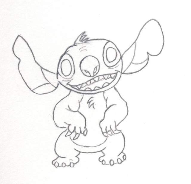 Comment dessiner stitch - Dessin de disney facile ...