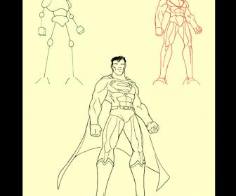 comment dessiner superman