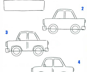 comment dessiner un e voiture