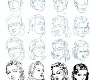 comment dessiner un visage