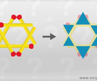 comment faire 6 triangles équilatéraux avec 6 allumettes