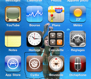 comment mettre 5 icone dans le dock iphone