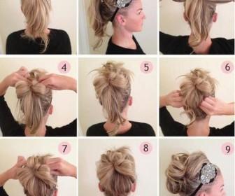 comment se coiffer facilement cheveux mi-long