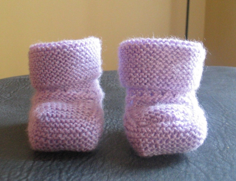 photo comment tricoter les chaussons bebe