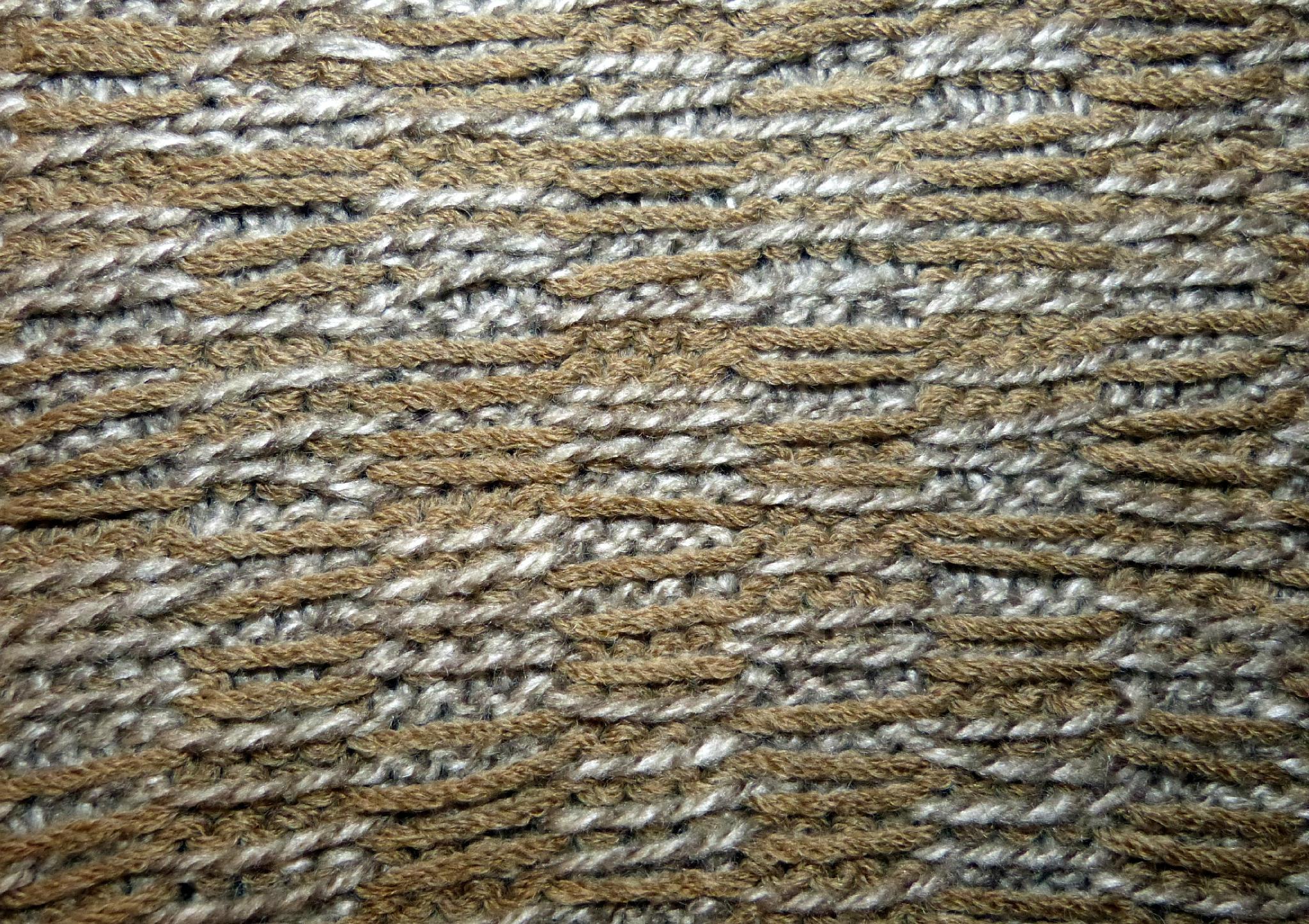 comment tricoter une echarpe jacquard