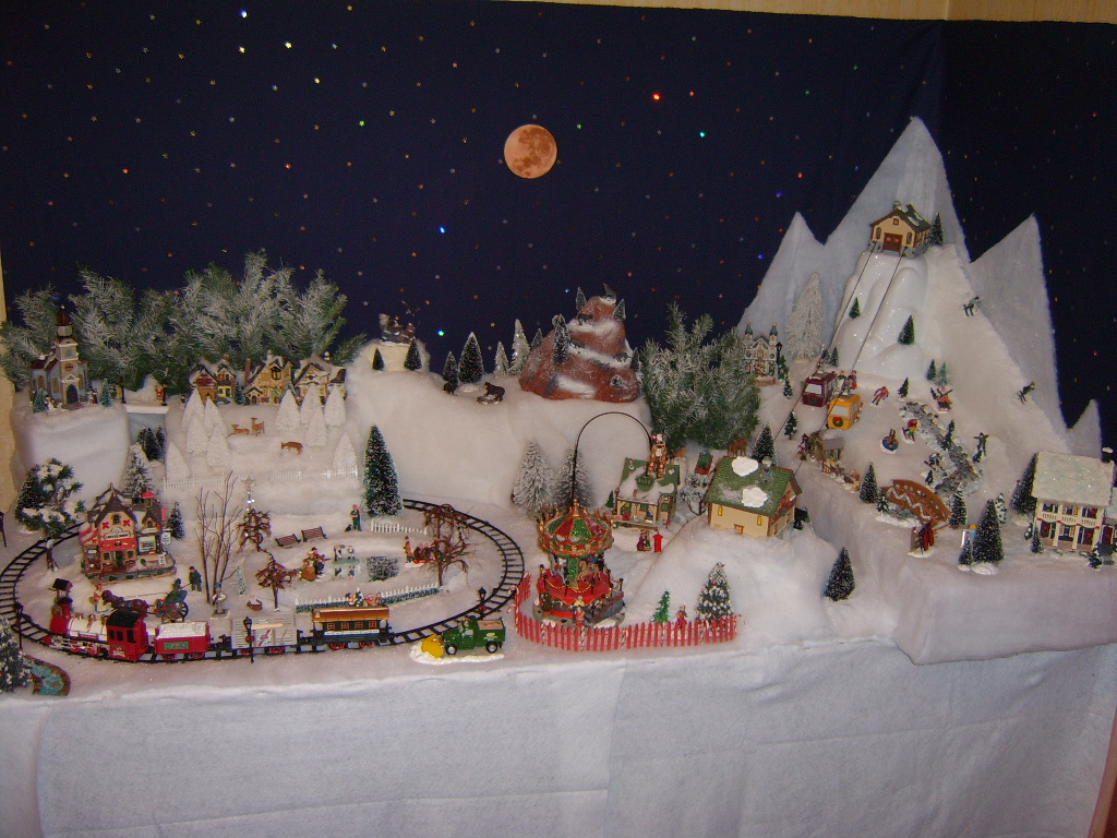 comment construire village noel miniature