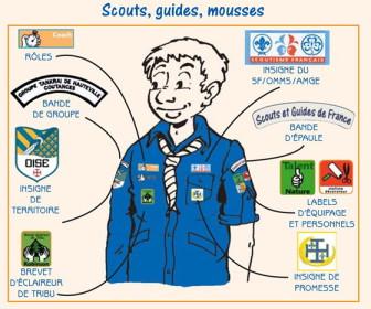 comment coudre insignes scouts
