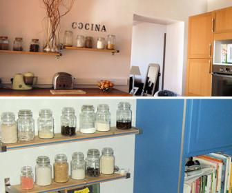 comment décorer étagère cuisine