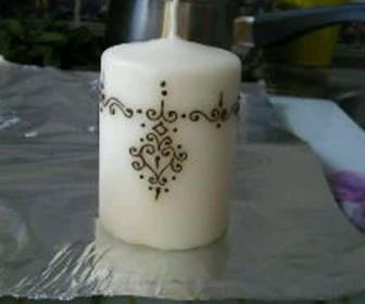 comment décorer des bougies