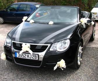 comment décorer voiture mariage