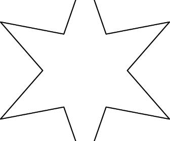 comment dessiner étoile 6 branches