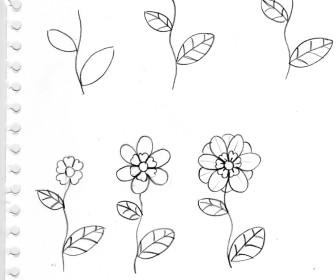 comment dessiner des fleurs