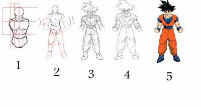 Comment apprendre a dessiner dbz - Dessin dragon ball z facile ...