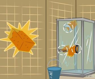 comment nettoyer paroi de douche