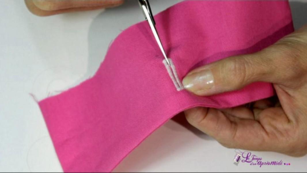 comment coudre un elastique a la main