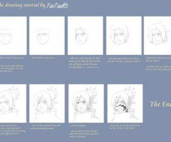 comment dessiner sasuke