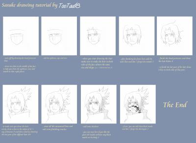 Comment dessiner sasuke - Dessiner un ninja ...