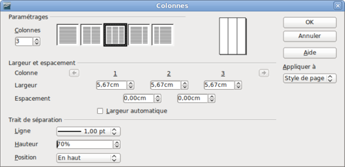 Comment faire 2 colonnes sur open office - Comment faire un organigramme open office ...