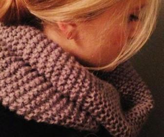 comment tricoter écharpe tube