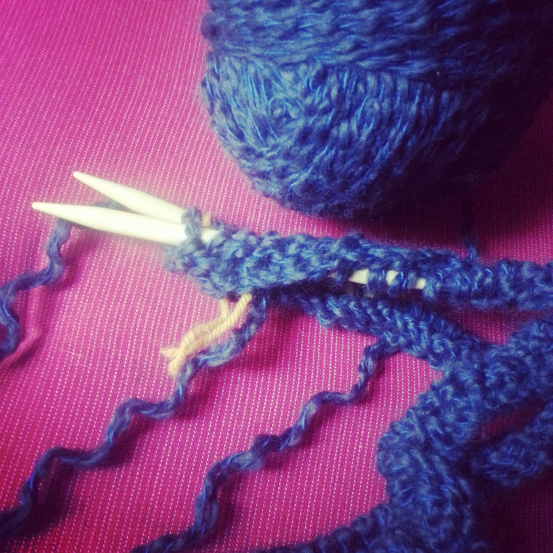 comment tricoter des rayures en rond