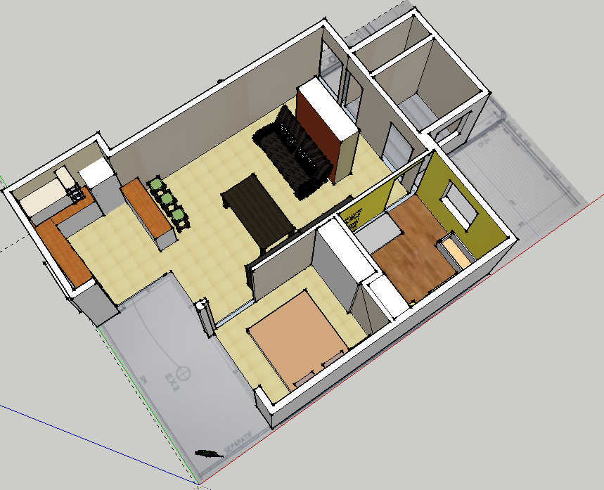 Comment d corer google for Plan maison google sketchup