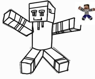 comment dessiner minecraft