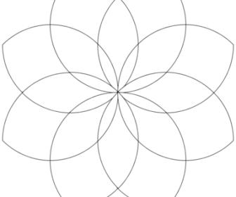 comment dessiner une rosace à 8 branches