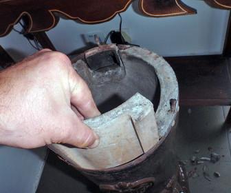 comment réparer brique refractaire