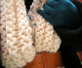 comment tricoter écharpe grosse maille