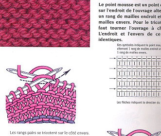 comment tricoter point mousse