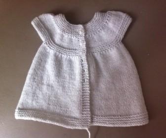 comment tricoter robe bébé