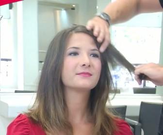 comment coiffer frange trop longue