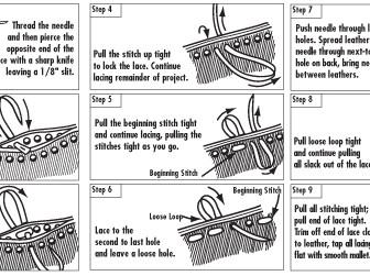 comment coudre du cuir