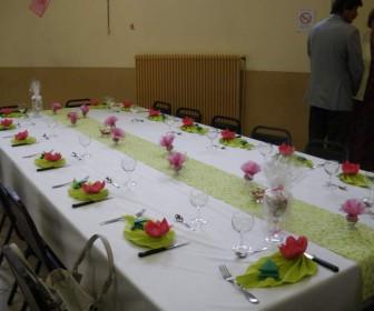 comment décorer table communion