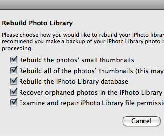comment réparer iphoto