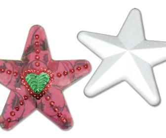 comment décorer une étoile en polystyrène
