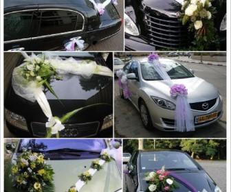 comment décorer voiture mariage tulle