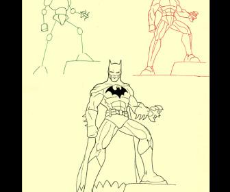 comment dessiner batman
