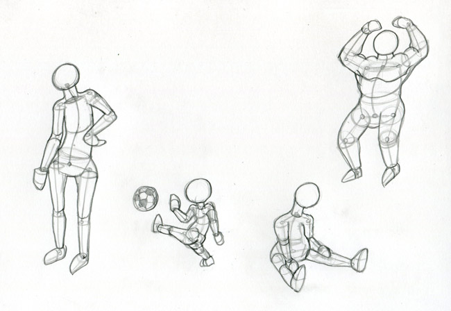 Comment dessiner un personnage - Dessin bonhomme assis ...