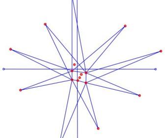 comment dessiner une etoile a 9 branches
