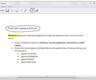comment faire une capture d'écran windows 7