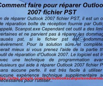 comment réparer outlook 2007