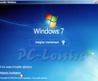 comment réparer windows 7