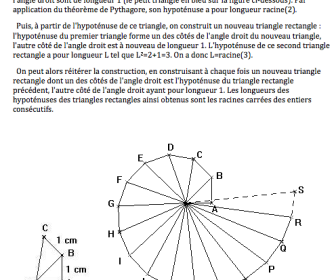 comment construire l'escargot de pythagore